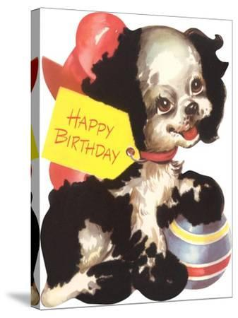 Happy Birthday from Puppy Dog--Stretched Canvas Print