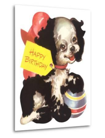 Happy Birthday from Puppy Dog--Metal Print