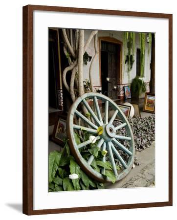 Wagon Wheel, La Posada De Don Rodrigo Hotel, Antigua, Guatemala-Bill Bachmann-Framed Photographic Print