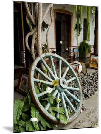Wagon Wheel, La Posada De Don Rodrigo Hotel, Antigua, Guatemala-Bill Bachmann-Mounted Photographic Print