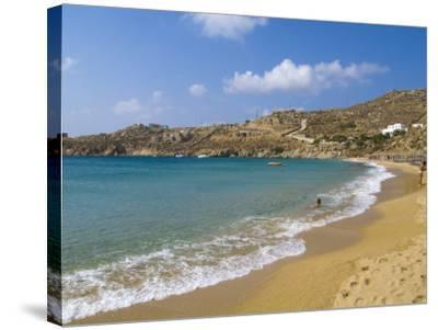 Super Paradise Beach, Mykonos, Greece-Bill Bachmann-Stretched Canvas Print