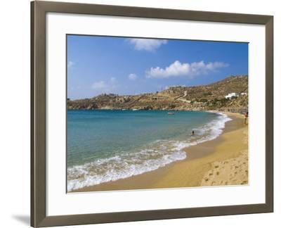 Super Paradise Beach, Mykonos, Greece-Bill Bachmann-Framed Photographic Print
