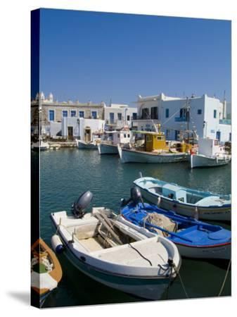 Fishing Boats in Naoussa, Paros, Greece-Bill Bachmann-Stretched Canvas Print