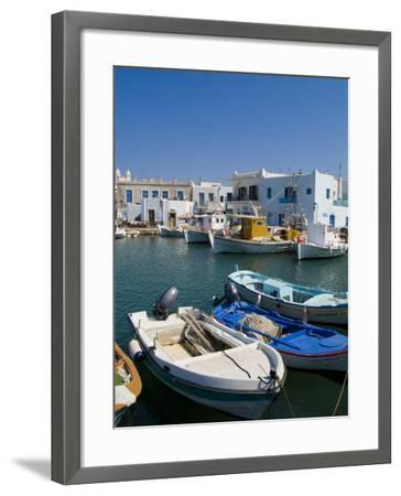 Fishing Boats in Naoussa, Paros, Greece-Bill Bachmann-Framed Photographic Print