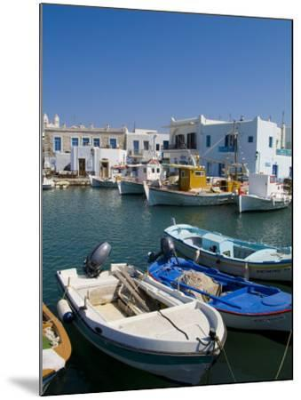 Fishing Boats in Naoussa, Paros, Greece-Bill Bachmann-Mounted Photographic Print
