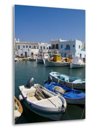 Fishing Boats in Naoussa, Paros, Greece-Bill Bachmann-Metal Print