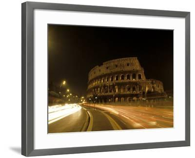 Colosseum Ruins at Night, Rome, Italy-Bill Bachmann-Framed Photographic Print
