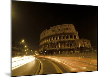 Colosseum Ruins at Night, Rome, Italy-Bill Bachmann-Mounted Photographic Print