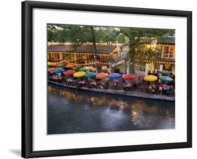 River Walk Restaurants and Cafes of Casa Rio, San Antonio, Texas-Bill Bachmann-Framed Photographic Print
