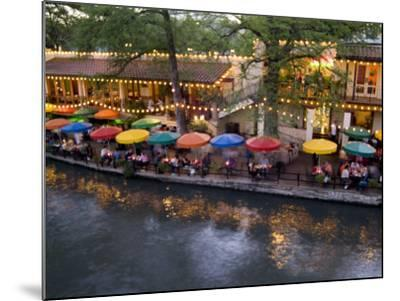 River Walk Restaurants and Cafes of Casa Rio, San Antonio, Texas-Bill Bachmann-Mounted Photographic Print