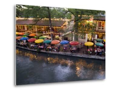 River Walk Restaurants and Cafes of Casa Rio, San Antonio, Texas-Bill Bachmann-Metal Print