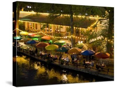 River Walk Restaurants and Cafes of Casa Rio, San Antonio, Texas-Bill Bachmann-Stretched Canvas Print