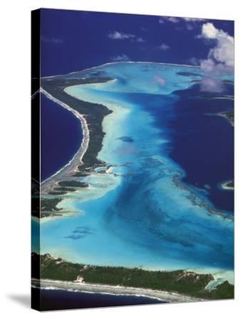 Le Meridien Hotel Bungalows, , Bora Bora, French Polynesia-Walter Bibikow-Stretched Canvas Print