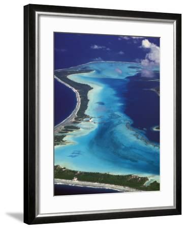 Le Meridien Hotel Bungalows, , Bora Bora, French Polynesia-Walter Bibikow-Framed Photographic Print