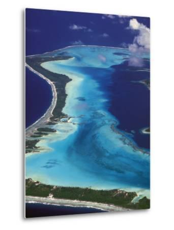 Le Meridien Hotel Bungalows, , Bora Bora, French Polynesia-Walter Bibikow-Metal Print