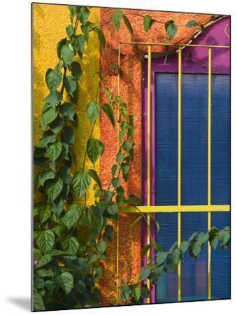 Colorful Building Detail, Barra De Navidad, Jalisco, Mexico-Walter Bibikow-Mounted Photographic Print