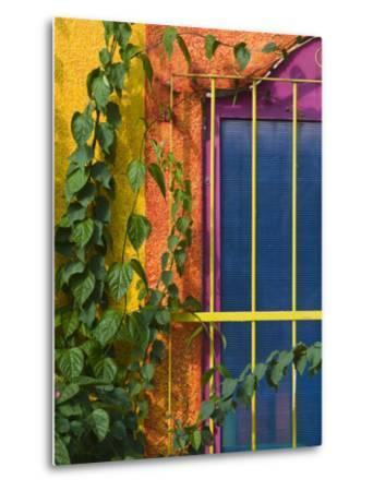 Colorful Building Detail, Barra De Navidad, Jalisco, Mexico-Walter Bibikow-Metal Print