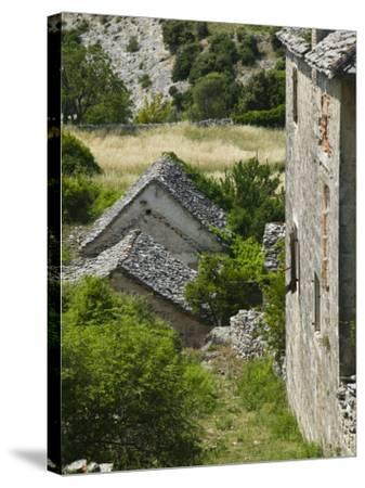 Oldest Settlement on Brac, Skrip, Brac Island, Central Dalmatia, Croatia-Walter Bibikow-Stretched Canvas Print