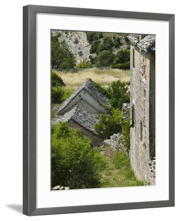 Oldest Settlement on Brac, Skrip, Brac Island, Central Dalmatia, Croatia-Walter Bibikow-Framed Photographic Print