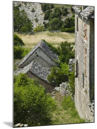 Oldest Settlement on Brac, Skrip, Brac Island, Central Dalmatia, Croatia-Walter Bibikow-Mounted Photographic Print