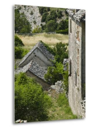 Oldest Settlement on Brac, Skrip, Brac Island, Central Dalmatia, Croatia-Walter Bibikow-Metal Print