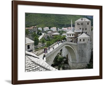 The Old Bridge Stari Most, Mostar, Bosnia-Hercegovia-Walter Bibikow-Framed Photographic Print