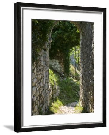 Ancient Archway, Stari, Bar, Montenegro-Walter Bibikow-Framed Photographic Print