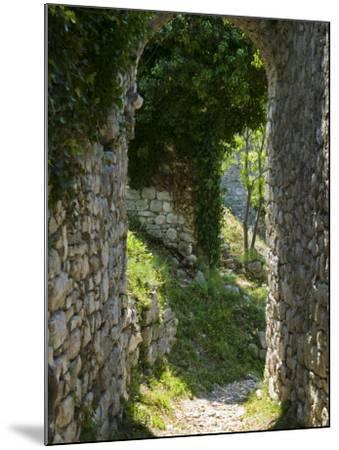 Ancient Archway, Stari, Bar, Montenegro-Walter Bibikow-Mounted Photographic Print
