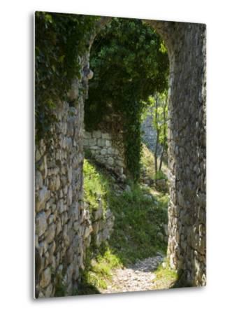 Ancient Archway, Stari, Bar, Montenegro-Walter Bibikow-Metal Print