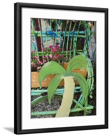 Colorful Art Gallery Details, Pine Island, Florida, USA-Walter Bibikow-Framed Premium Photographic Print