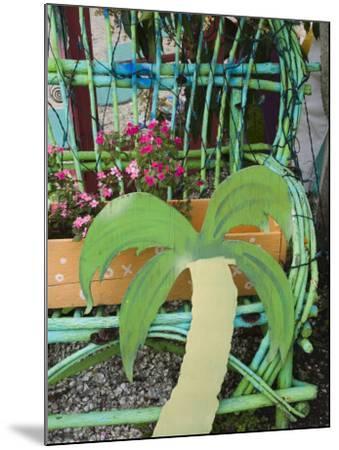 Colorful Art Gallery Details, Pine Island, Florida, USA-Walter Bibikow-Mounted Photographic Print