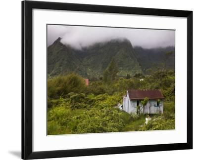 Small Creole-style cabin, Plaine-des-Palmistes, Reunion Island, France-Walter Bibikow-Framed Photographic Print