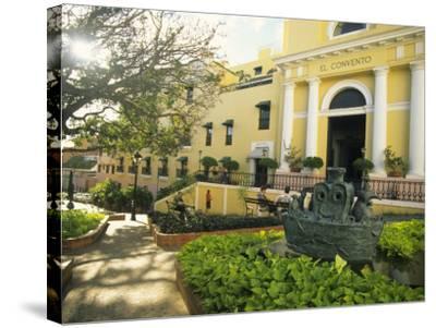 Grand Hotel El Convento and Plaza, Old San Juan, Puerto Rico-Ellen Clark-Stretched Canvas Print