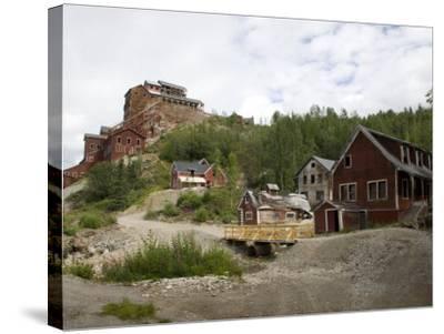 Kennecott Copper Mine, Mccarthy, Wrangell St. Elias National Park, Alaska, USA-Ellen Clark-Stretched Canvas Print