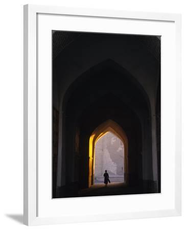 Silhouette Through Archway, Bukhara, Uzbekistan-Ellen Clark-Framed Photographic Print