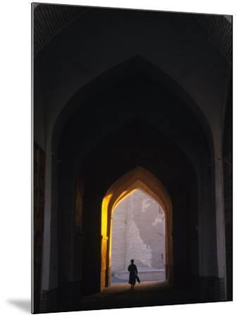 Silhouette Through Archway, Bukhara, Uzbekistan-Ellen Clark-Mounted Photographic Print