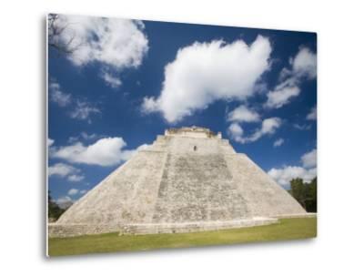 The Pyramid of The Magician, Uxmal, Yucatan, Mexico-Julie Eggers-Metal Print