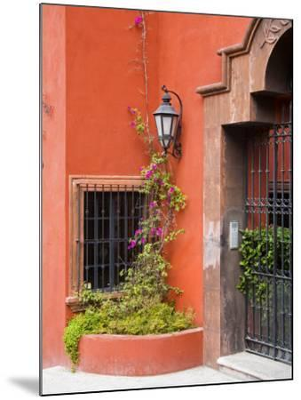 Exterior of a House, San Miguel, Guanajuato State, Mexico-Julie Eggers-Mounted Photographic Print