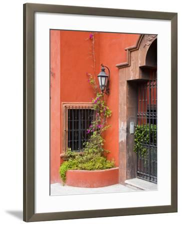Exterior of a House, San Miguel, Guanajuato State, Mexico-Julie Eggers-Framed Photographic Print