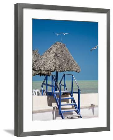Steps Leading over the Seaside Boulevard, Progreso, Yucatan, Mexico-Julie Eggers-Framed Photographic Print