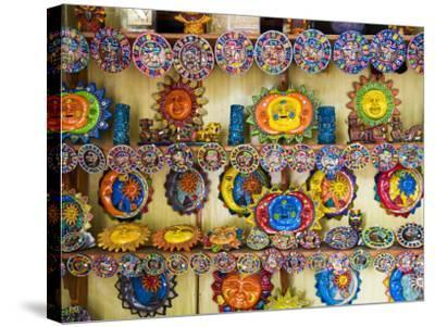 Colorful Crafts For Sale, Valladolid, Yucatan, Mexico-Julie Eggers-Stretched Canvas Print