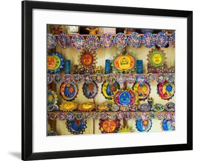 Colorful Crafts For Sale, Valladolid, Yucatan, Mexico-Julie Eggers-Framed Photographic Print