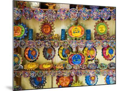 Colorful Crafts For Sale, Valladolid, Yucatan, Mexico-Julie Eggers-Mounted Photographic Print