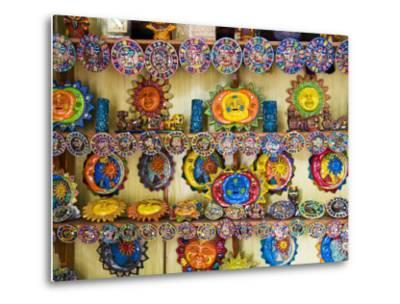 Colorful Crafts For Sale, Valladolid, Yucatan, Mexico-Julie Eggers-Metal Print