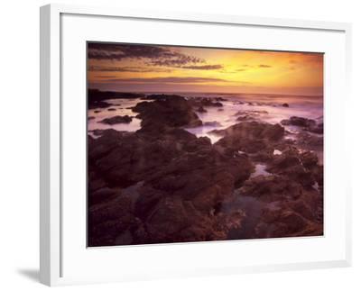 Sunrise over South Atlantic, Punta Del Este, Uruguay-Jerry Ginsberg-Framed Photographic Print