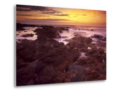 Sunrise over South Atlantic, Punta Del Este, Uruguay-Jerry Ginsberg-Metal Print