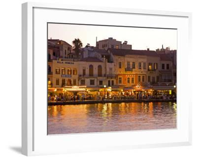 The Old Harbor, Chania, Crete, Greece-Darrell Gulin-Framed Photographic Print