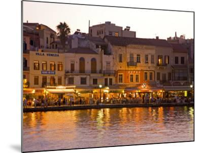 The Old Harbor, Chania, Crete, Greece-Darrell Gulin-Mounted Photographic Print