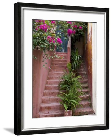 Colorful Stairways, Chania, Crete, Greece-Darrell Gulin-Framed Photographic Print