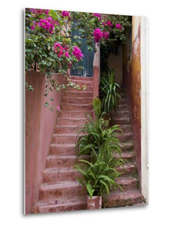 Colorful Stairways, Chania, Crete, Greece-Darrell Gulin-Metal Print